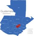 Map Guatemala Departments El_Progreso