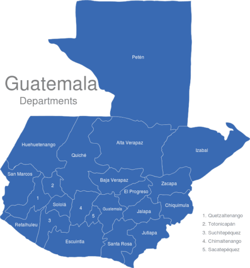 Guatemala Departments