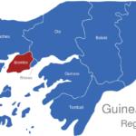 Map Guinea Bissau Regionen Biombo