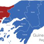 Map Guinea Bissau Regionen Cacheu