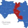 Map Guinea Regionen Faranah