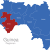 Map Guinea Regionen Kindia