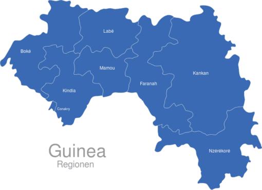 Guinea Regionen