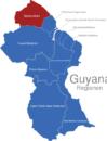 Map Guyana Regionen Barima-Waini