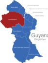 Map Guyana Regionen Cuyuni-Mazaruni