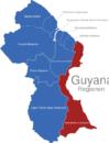 Map Guyana Regionen East_Berbice-Corentyne