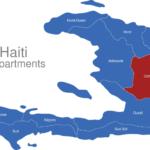 Map Haiti Departments Centre