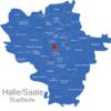 Map Halle Stadtteile Altstadt
