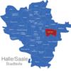 Map Halle Stadtteile Büschdorf