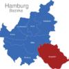 Map Hamburg Bezirke Bergedorf_1_