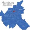 Map Hamburg Stadtteile Alsterdorf
