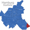 Map Hamburg Stadtteile Altengamme