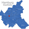 Map Hamburg Stadtteile Altona