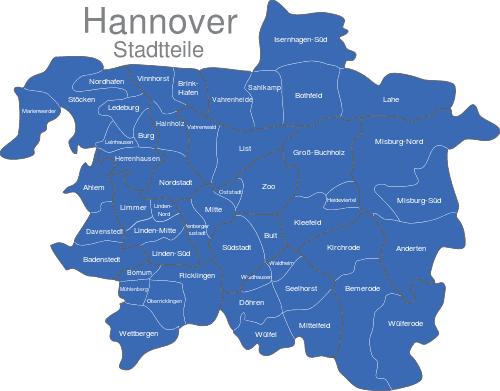 Hannover Stadtteile