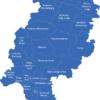 Map Hessen Landkreise Bergstrasse