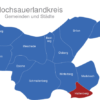 Map Hochsauerlandkreis Hallenberg