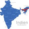 Map Indien Bundesstaaten Assam