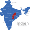 Map Indien Bundesstaaten Chhattisgarh