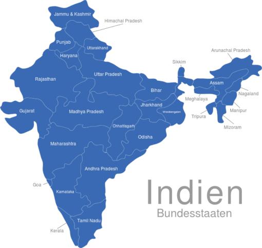 Indien Bundesstaaten