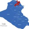 Map Irak Provinzen Arbil
