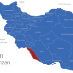 Map Iran Provinzen Bushehr