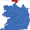 Map Irland Grafschaften Donegal