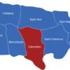 Map Jamaica Gemeinden Clarendon