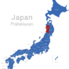 Map Japan Präfekturen Akita