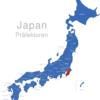 Map Japan Präfekturen Chiba