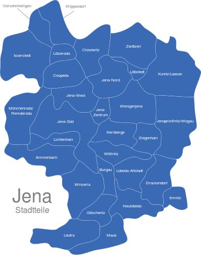 Jena Stadtteile