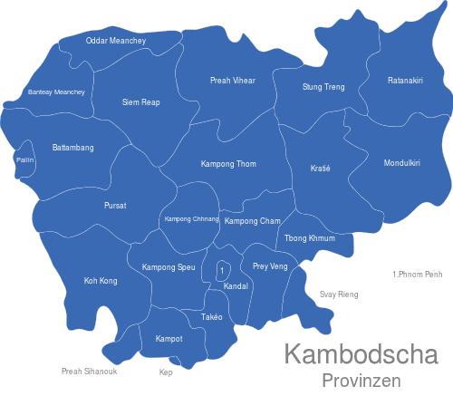 Kambodscha Provinzen