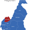 Map Kamerun Regionen Nordwest