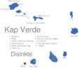 Map Kap Verde Distrikte Brava