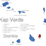 Map Kap Verde Distrikte Maio