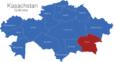 Map Kasachstan Gebiete Almaty