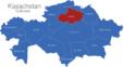 Map Kasachstan Gebiete Aqmola