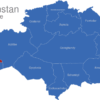 Map Kasachstan Gebiete Atyrau