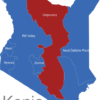 Map Kenia Provinzen Ostprovinz