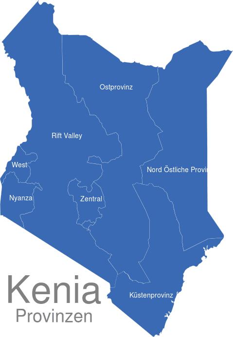 Kenia Provinzen