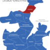 Map Kiel Bezirke Holtenau