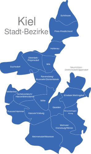 Kiel Bezirke