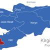 Map Kirgisistan Provinzen Batken
