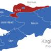 Map Kirgisistan Provinzen Chuy
