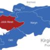 Map Kirgisistan Provinzen Jalal-Abad