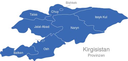 Kirgisistan Provinzen