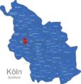 Map Köln Stadtteile Bickendorf