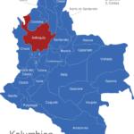 Map Kolumbien Departement Antioquia