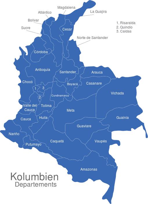 Kolumbien Departement