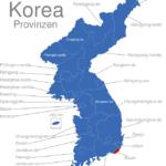 Map Korea Provinzen Busan