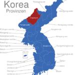 Map Korea Provinzen Chagang-do